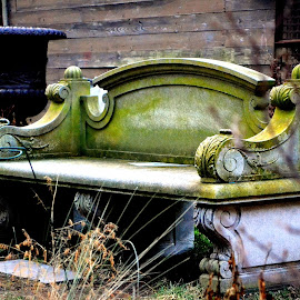 by Alexandra Tsalikis - Artistic Objects Antiques ( bench, stone )
