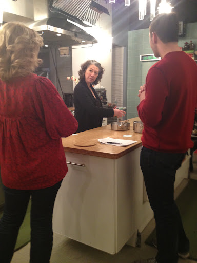 Walking through the segment with the producer, Bruce, and Bianca and her food stylist team (who makes everything look so good!).