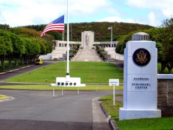 Punchbowl memorial distant