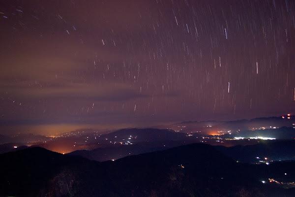 вид с пика адама, шри-пада, звезды, небо