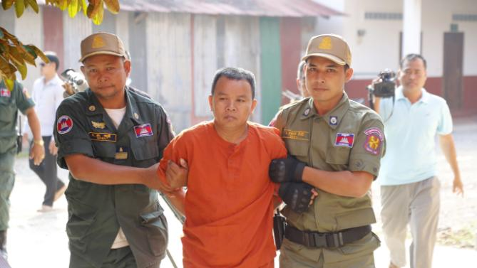 Image of The man named Yem Chhrin will face life imprisonment if convicted of murder, he obviously spread HIV - the virus that causes AIDS, and practiced medicine without a license in the town of Battambang.