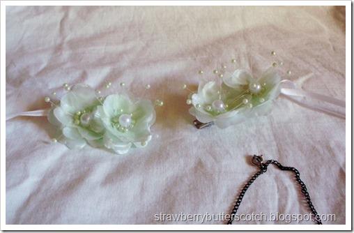 Flower Hair Clips for Green Sprite Costume