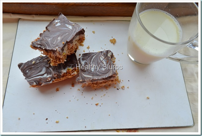 Healthy Chocolate marbled Energy Bars