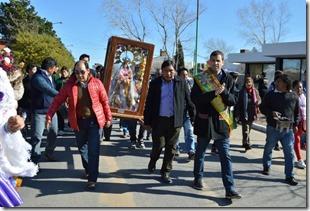 De Jesús fue parte de la procesión de los fieles a la Virgen de Urkupiña