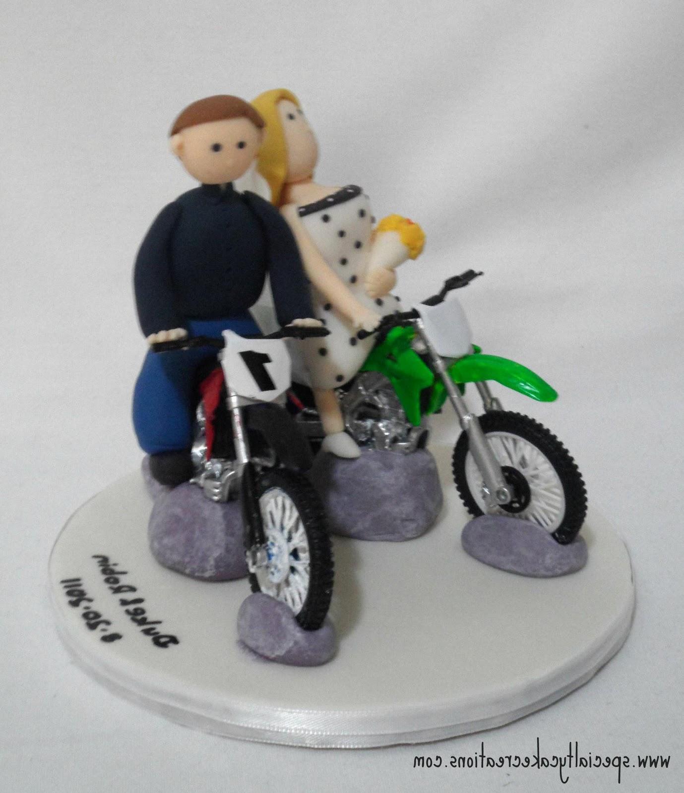 Motocross Wedding Cake Topper