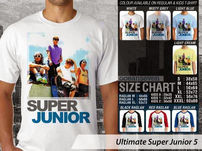 Kaos K Pop SUJU Ultimate Super Junior 5 Boy Band Asal Korea distro ocean seven