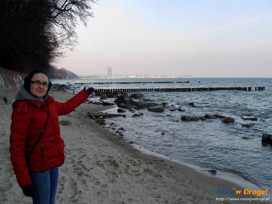 Ścieżka wzdłuż plaży do Gdyni