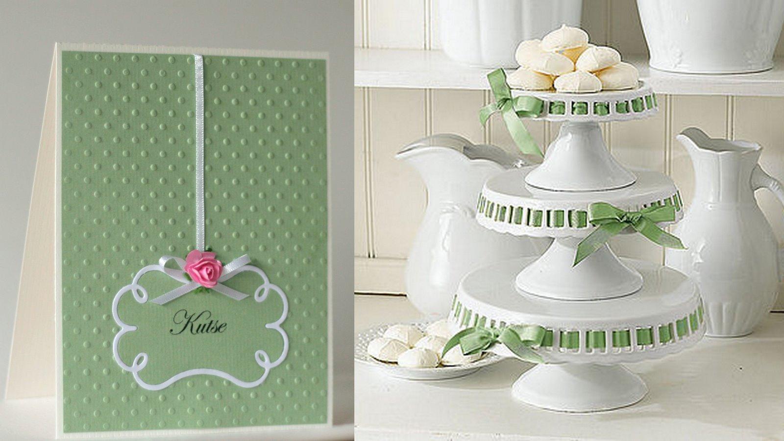 Pale Green Wedding Invitation