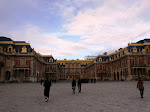 The front of the palace of Versailles