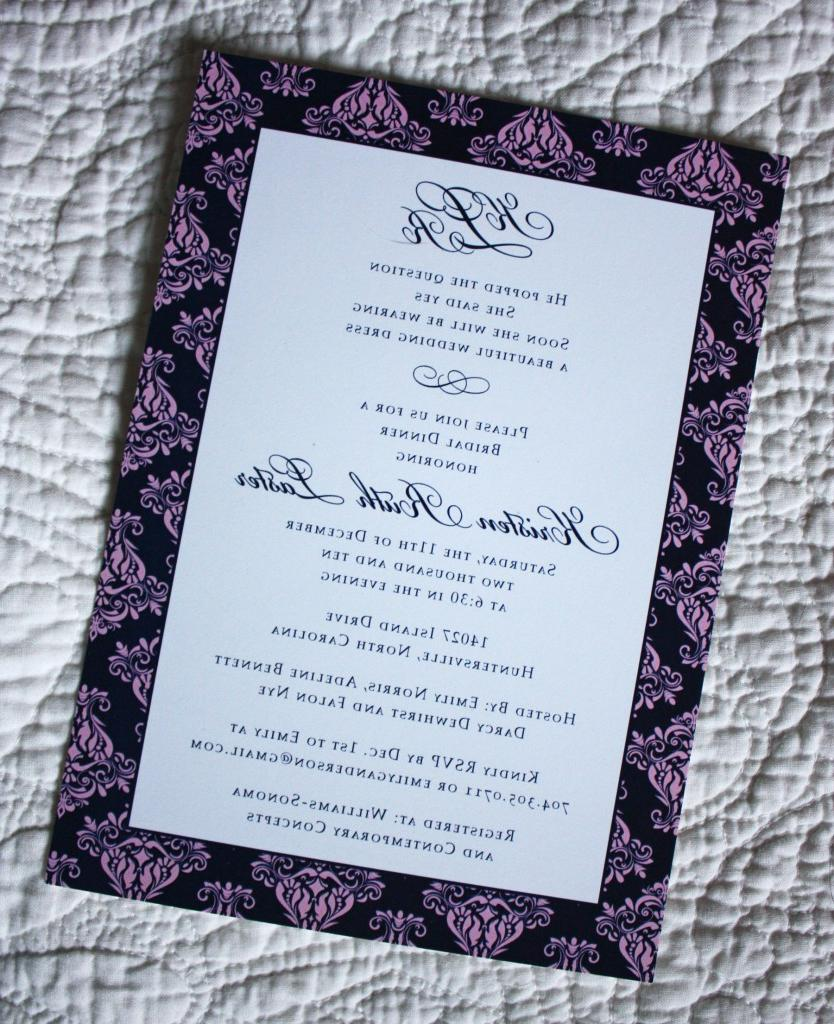 bridal shower invitations.