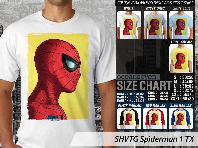 Kaos Superhero Spiderman 1 TX distro ocean seven