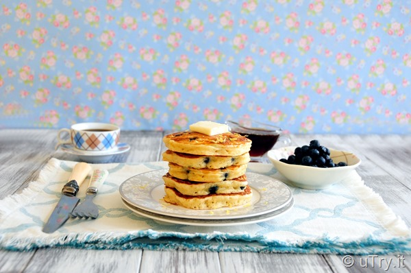 How to Make Blueberry Buttermilk Pancakes—3 Secrets to Making Tender and Fluffy Pancakes!   http://uTry.it