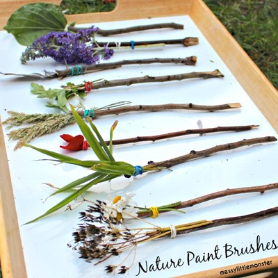 nature stick paint brushes