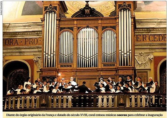 Organo francese, Catedral da Sè - Belém do Parà, fonte: Shirley Penaforte