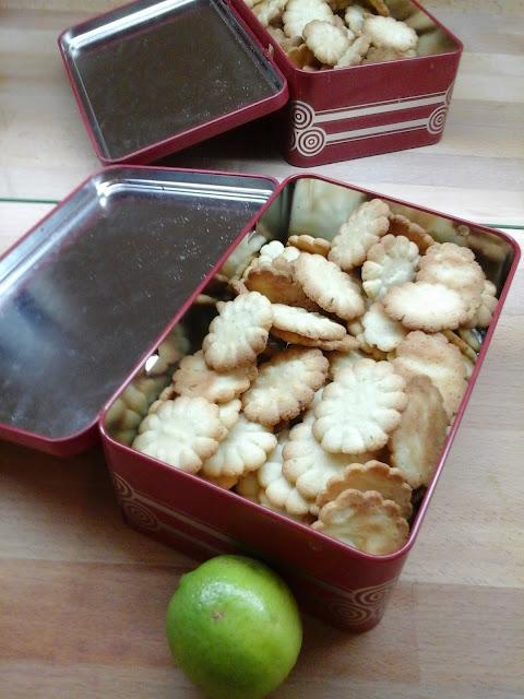 Petits beurres au citron vert; biscuits; citron vert.