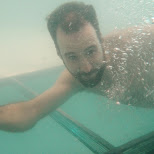 underwater at westin hotel in Montreal, Quebec, Canada