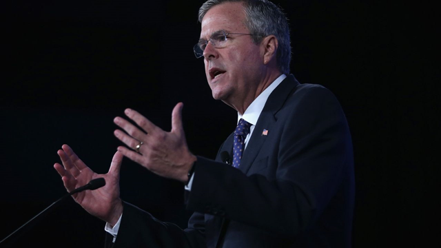 Jeb Bush's comments on global warming are as incoherent and unstable are his comments on the U.S. invasion of Iraq. His position can't stand up to the slightest scrutiny; his only hope is that it doesn't get any. Photo: Alex Wong / Getty Images