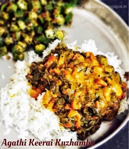 Agathi Keerai Kuzhambu Recipe | Kuzhambu Varieties