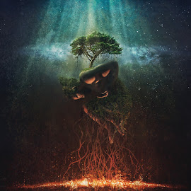 Dying Tree of Life by Anuja Lavan - Digital Art Things ( unique, change, artistic, manipulation, conceptual )