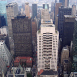 view of the rockefeller center in New York City, New York, United States