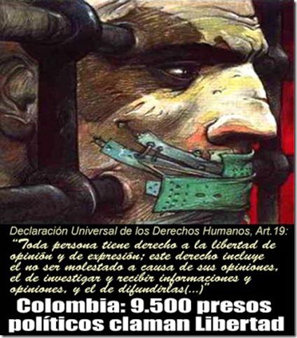 9500 PRESOS POLÍTICOS COLOMBIA