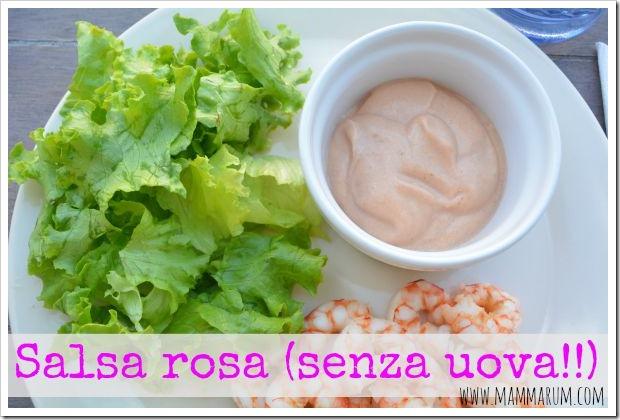 salsa rosa senza uova
