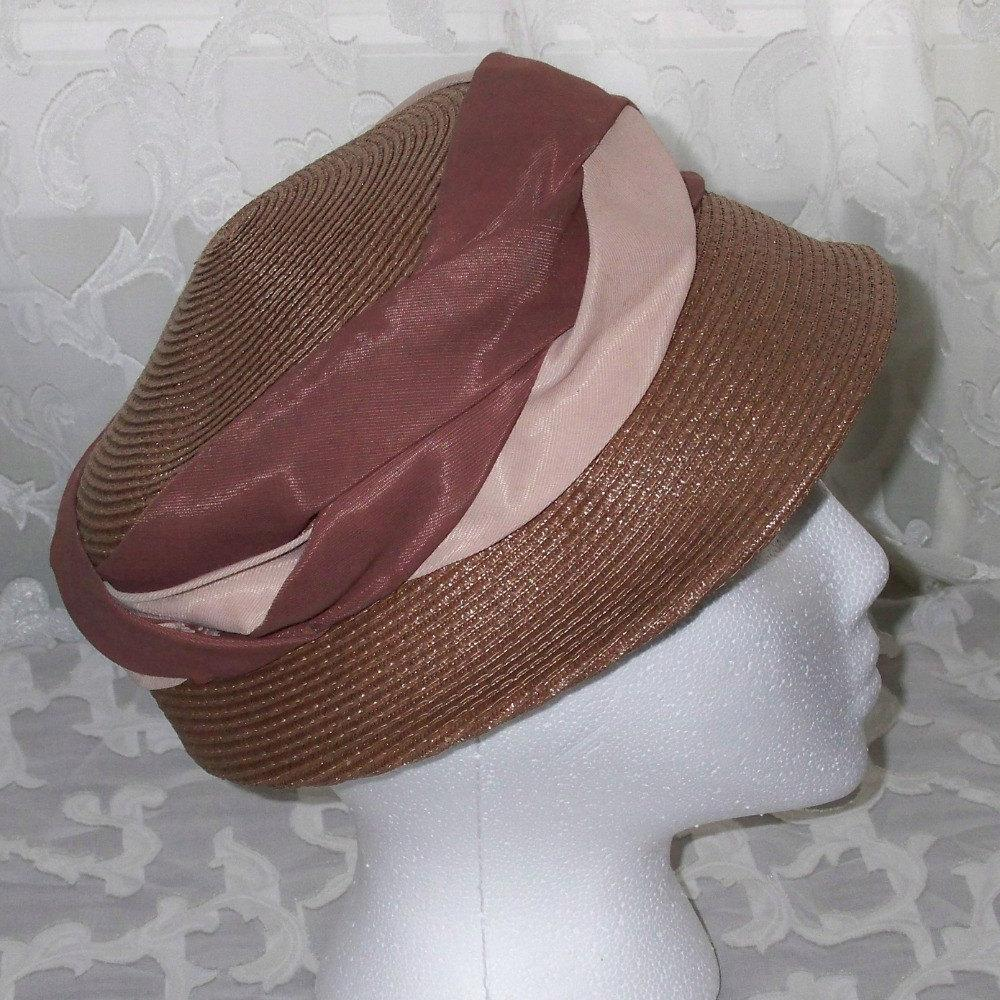 Vintage Mad Men Hat Mauve and