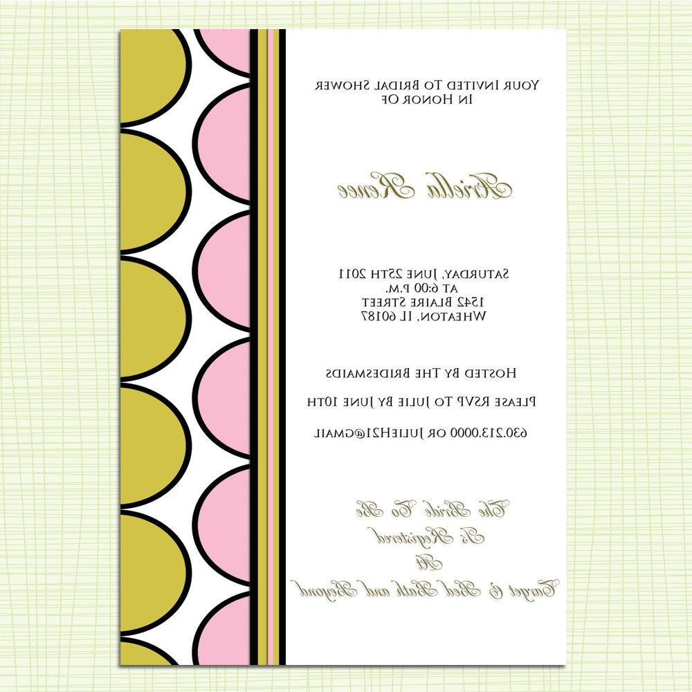 Print Your Own Bridal Shower