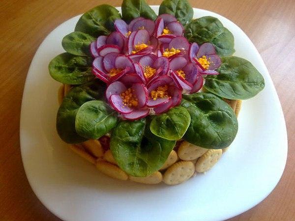 как красиво оформить салат плюс рецепт