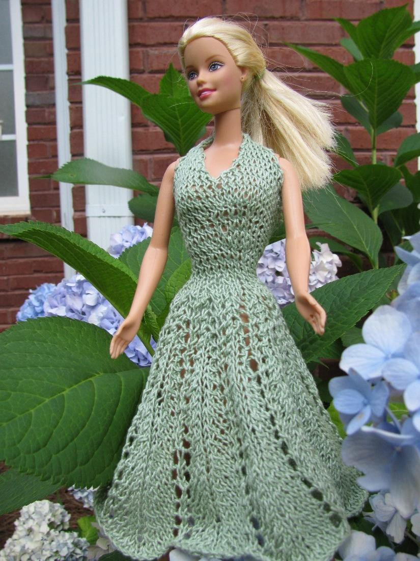 PDF Barbie Lace Sundress  Knitting Pattern . From ZibelineKnits