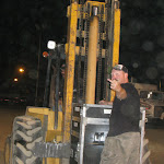 Newsom gets another forklift ride