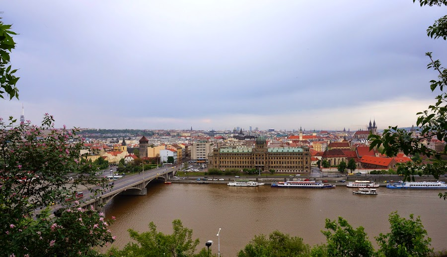 Вид на старую Прагу с Летенских садов