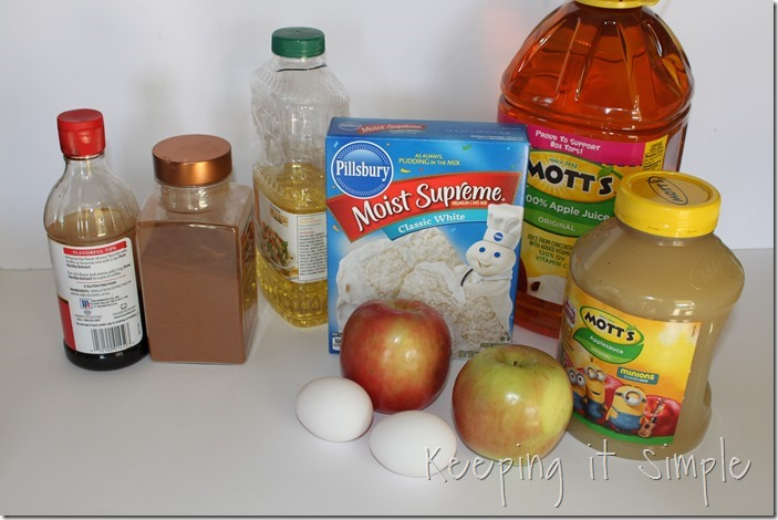 #ad Mini-Applesauce-Apple-Cinnamon-Bundt-Cake-Bar #BakeintheFun (2)