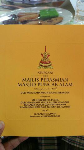 Majlis Perasmian Majid Bandar Puncak Alam