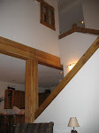 The stairs to the second floor