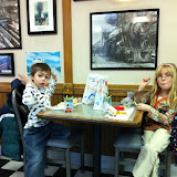 Eating lunch at the Chicago Amtrak station McDonalds 01142012