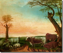 Edward Hicks - Landscape with Cattle