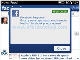 Facebook for BlackBerry 3.0