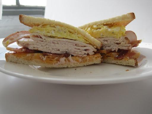 Turkey, Bacon, and Egg Breakfast Sandwich: KEELEY STEEGER