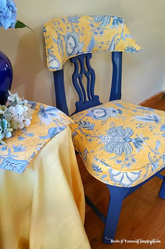 florence the blue and yellow toile chair