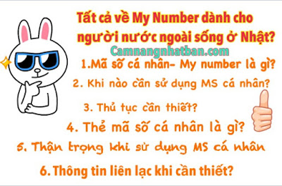 My number - Ma so ca nhan o Nhat Ban, nhung dieu can biet