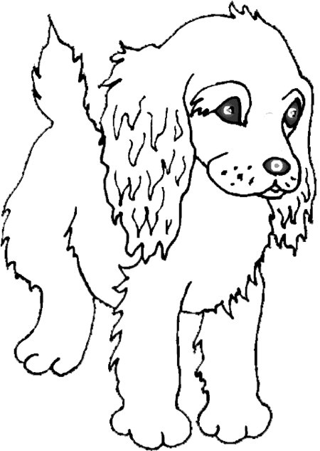 cute puppy coloring pages - Cute Puppy Coloring Page for Kids Free Printable Picture