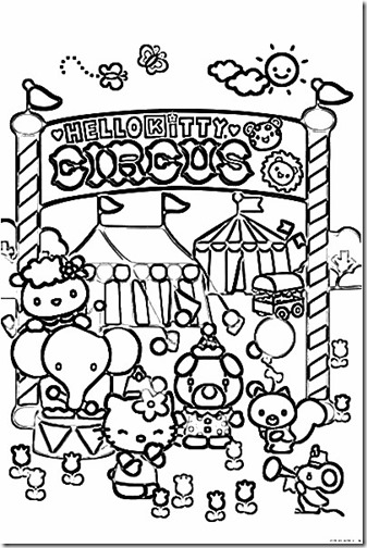 hello kitty circo blogcolorear (5)