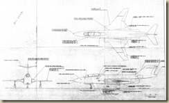 F-101B 3-View Reference Drawing 1 - RDowney