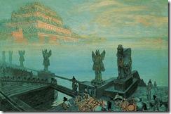 "František Kupka, Babylon, 1906. 27-9/16 x 40-15/16"", 70 x 104 cm, NG Prague. Source: Painting the Universe-Kupka-Pioneer in Abstraction."