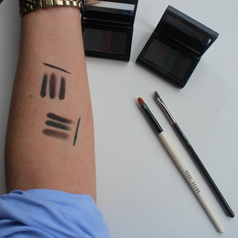 BobbiBrown-Intense-Pigment-Liner-BlackPlum-Forest-swatches