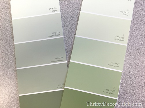 Sherwin-Williams green colors