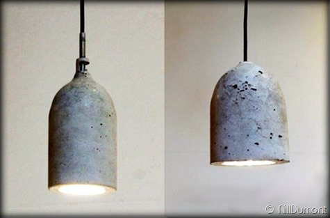 Criando luminária com Pet e cimento-019