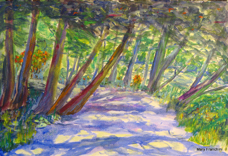 """Mary Luckes Wheeler Park 2"" Acrylic SOLD"