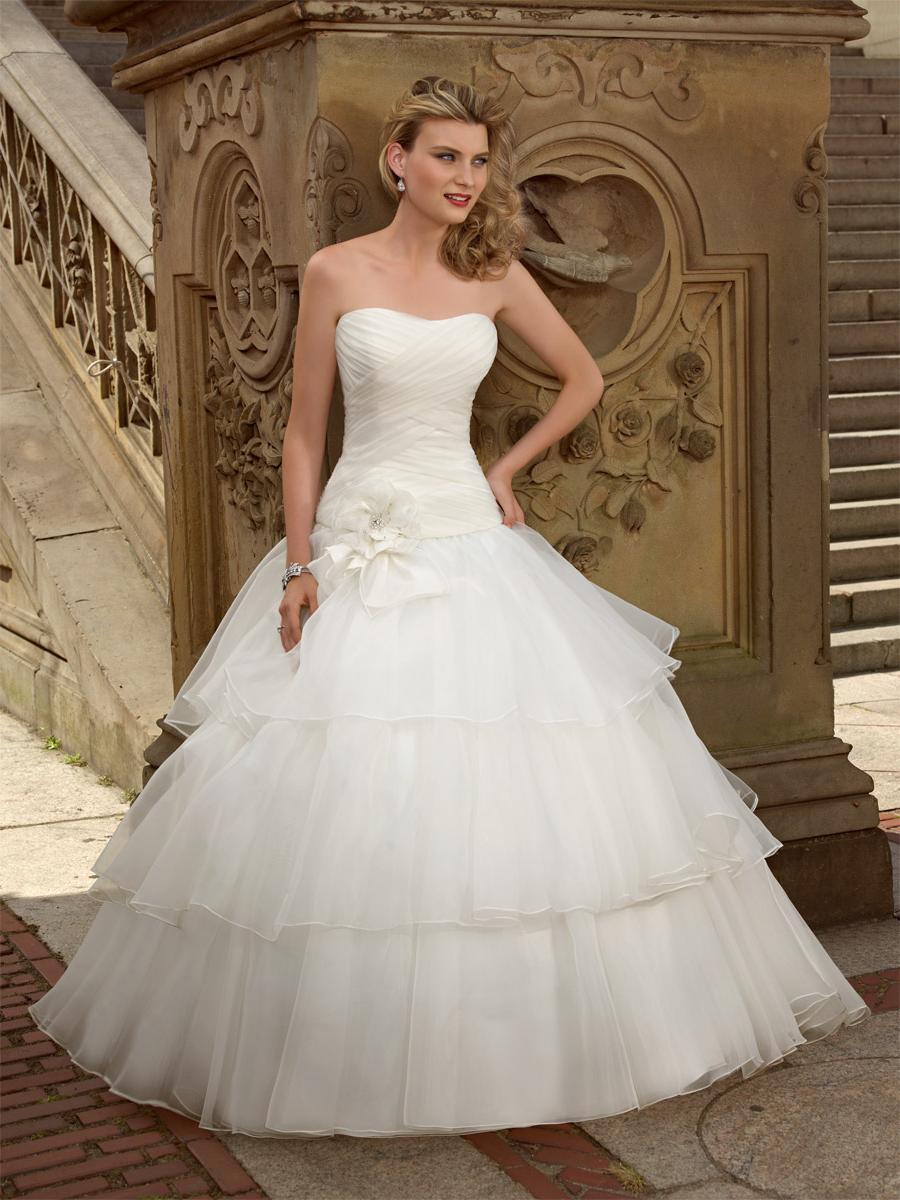 tiered bridal dress